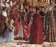 CARPACCIO, Vittore The Pilgrims Meet the Pope (detail) oil painting picture wholesale
